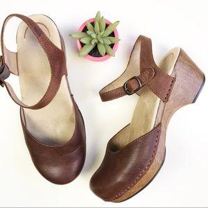 Dansko Brown Clog Sam Mary Jane Comfort Shoe